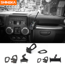 SHINEKA Car GPS Bracket for Jeep Wrangler JK Interphone Support Holder Phone Ipad