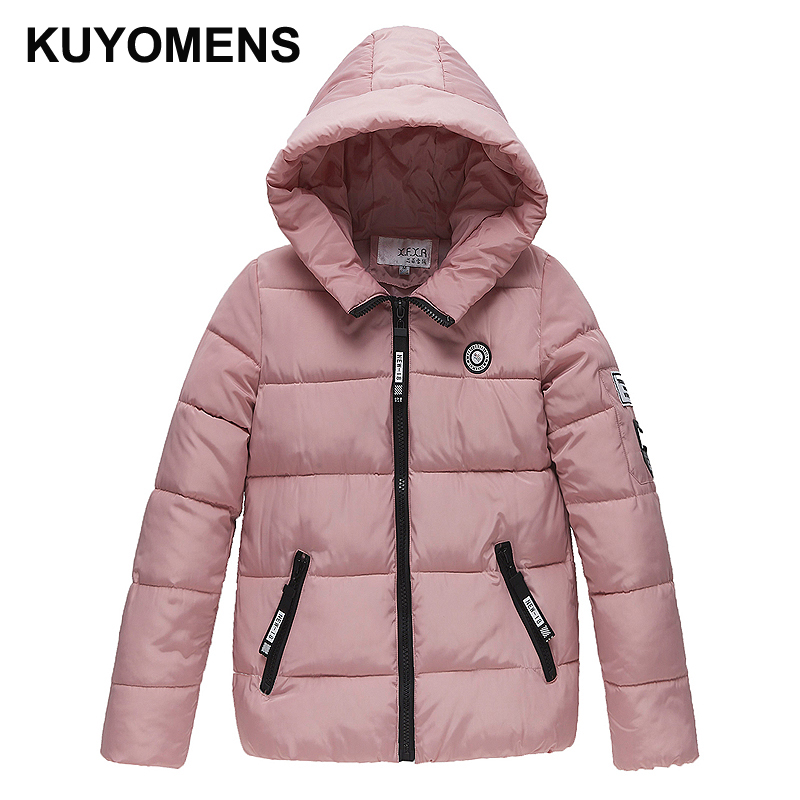 KUYOMENS 2017 Women Winter Jacket Coat  Cotton Hooded Thick Warm Loose Women Basic Coats Bomber Jacket Female Autumn Women Coat loft style iron pendant lamp creative industry restaurant bar cafe personality studio gear 2 head pendant lights