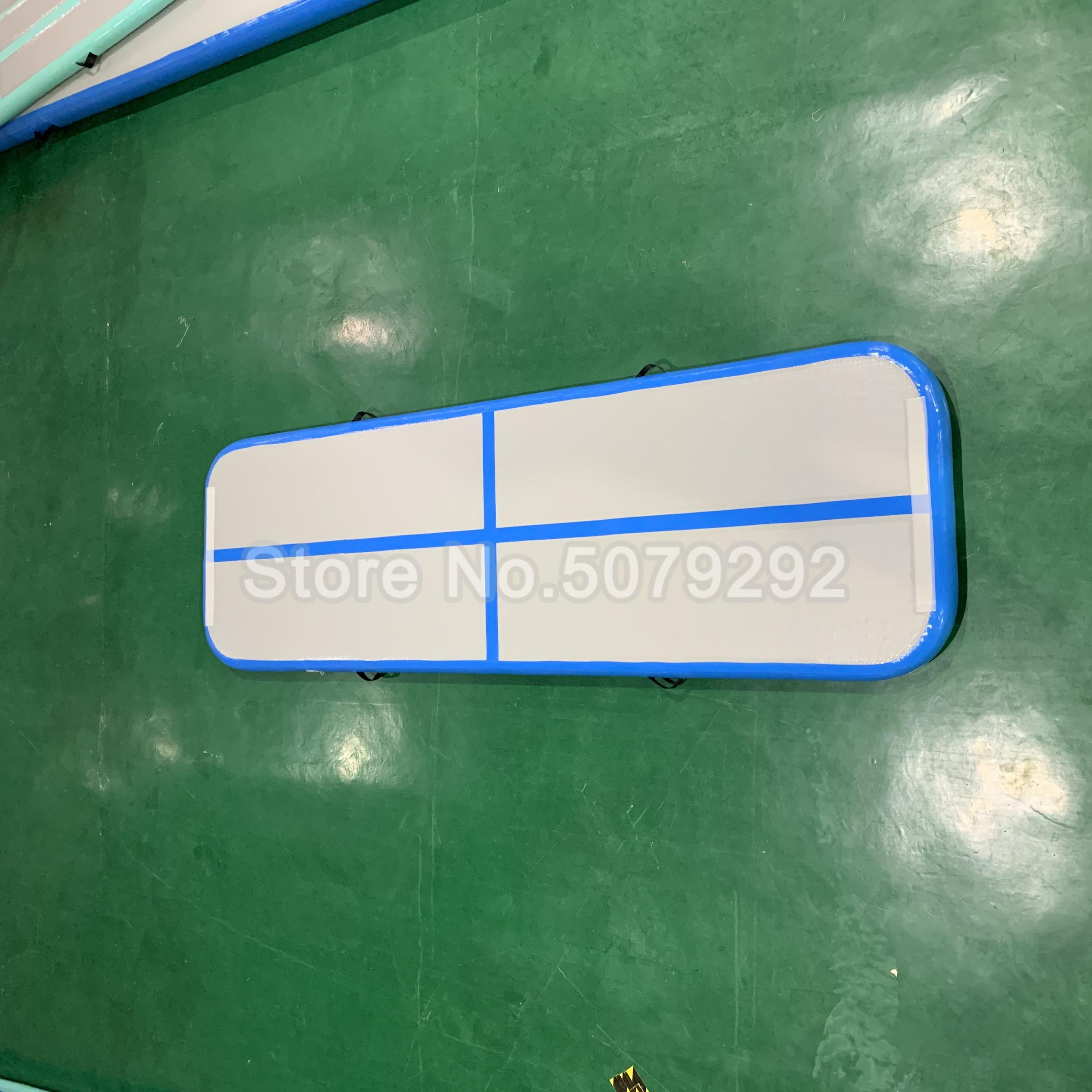 Blue Color Inflatable Airtrack 3M Home Use Air Floor/Bouncing Mat/Crash Air Board DWF Air Block WaterProof Gym Mat/Bouncing Mat