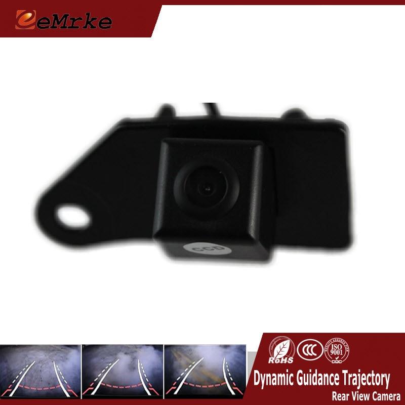 EEMRKE For Mitsubishi ASX RVR Outlander Sport Dynamic Trajectory Parking Line Car Reverse Rearview Reversing Tracks Camera