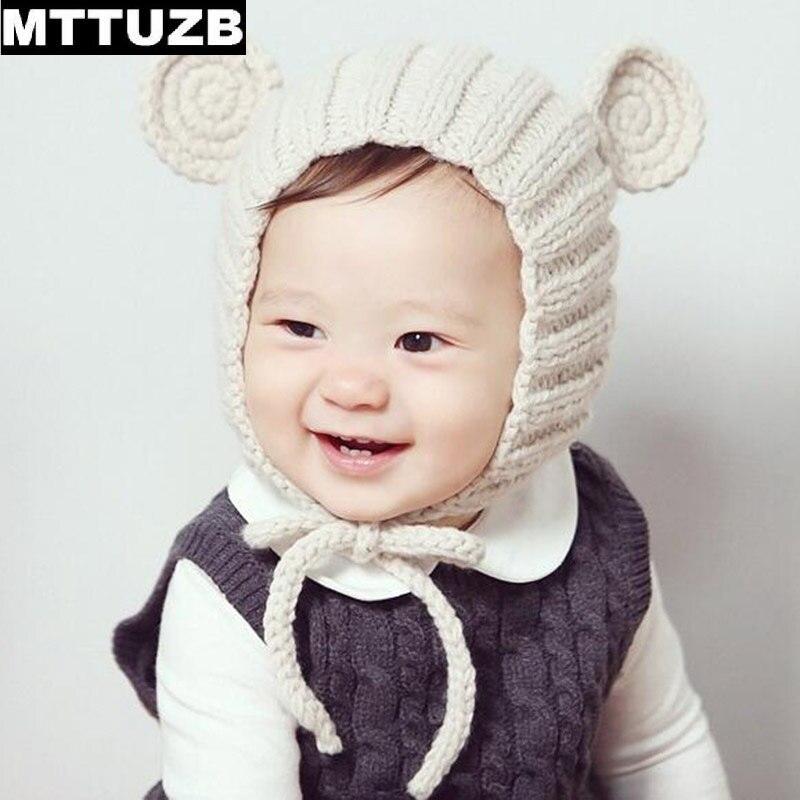 9db785449972 MTTUZB Beau dessin animé enfants tricoté chapeau garçons filles automne  hiver chaud doux caps enfant de style Coréen chapeaux enfant accessoires