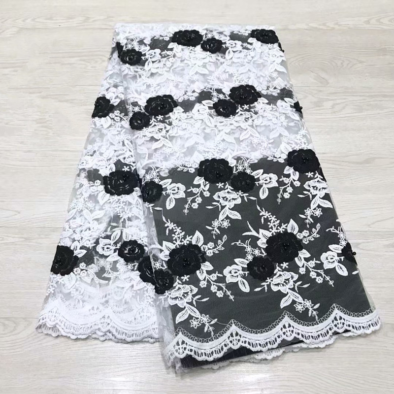 French Lace Fabric Embroidered African Tulle Lace Fabric With Beads African Lace Fabric For Wedding HJ1485-1   French Lace Fabric Embroidered African Tulle Lace Fabric With Beads African Lace Fabric For Wedding HJ1485-1