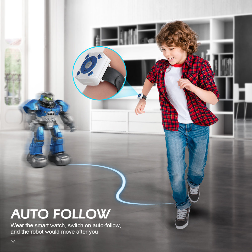 Image 5 - JJRC R5 Robot Intelligent Programmable Auto Music Dance RC Robot For Children Smart Watch Follow Gesture Sensor RC Toys Robo-in RC Robot from Toys & Hobbies