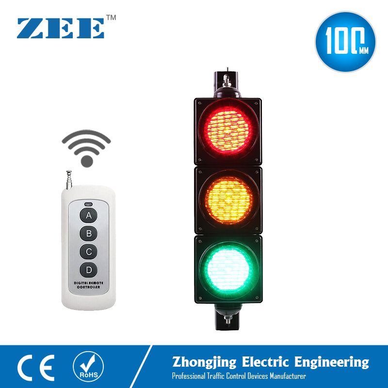 4 Inch 100mm IR Remote Control Traffic Light Controller LED Traffic Light Simplified Traffic Controller LED Traffic Signals