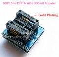 SOP16 в DIP16 Адаптер Гнездо Широкий 300mil/SOIC16-DIP16 Гнездо sop16 в dip16 ic программист адаптер