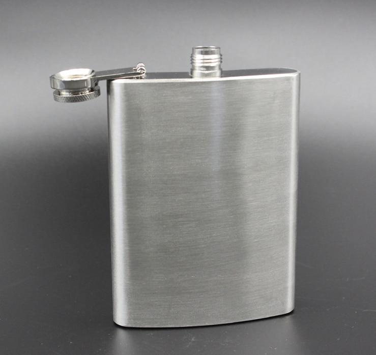 8oz Carrier Pocket Flask Drink 스테인레스 스틸 알콜 워터 와인 병 야외