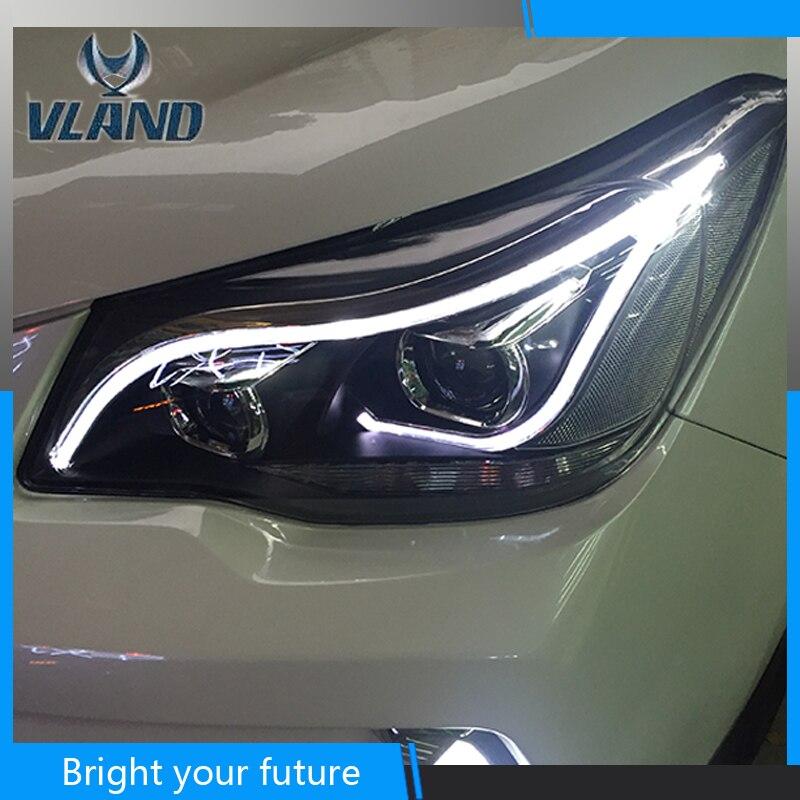 Светодио дный светодиодный Ангел глаз фара для Subaru Forester 2013 светодио дный 2016 фары би ксенон проектор Объектив Автомобильные аксессуары