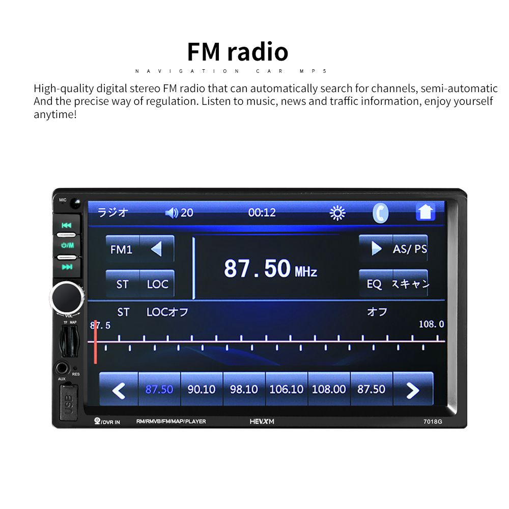 2 din Car Multimedia Player <font><b>GPS</b></font> Navigation with Map 7 inch HD Touch Screen Bluetooth Radio MP3 MP5 Player <font><b>7018G</b></font> Radios(Austral image