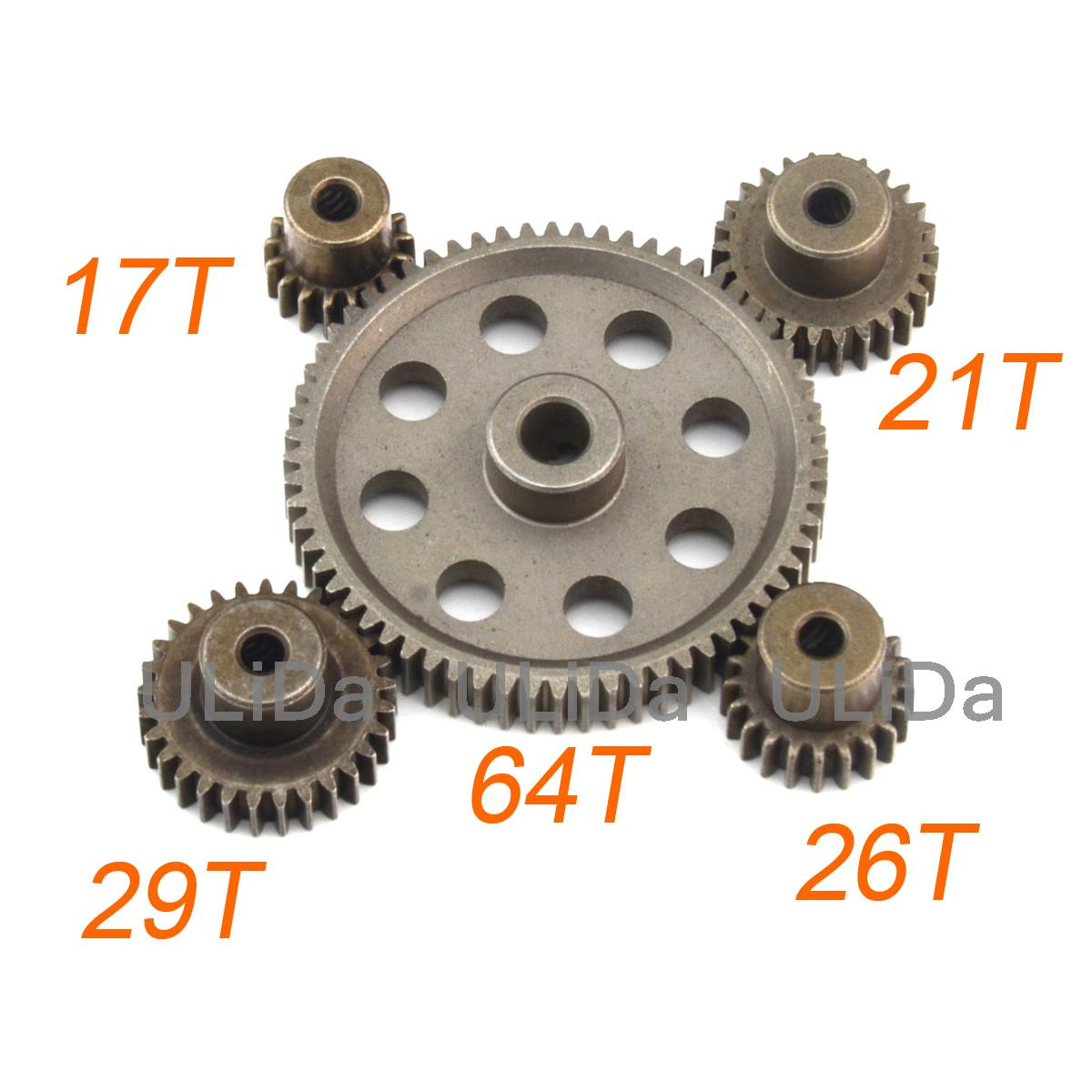 11184 Metal Steel Spur Differential Main Gear 64T Motor Pinion Gears HSP Redcat