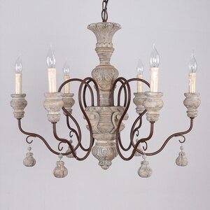 Image 5 - vintage resin chandelier for living room bedroom home decor chandeliers lighting led avize lustre para sala candelabros lustres