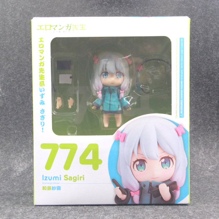 Nendoroid 774 Figure Anime Eromanga Sensei Izumi Sagiri PVC Action Figure 10cm Collectible Model Toys Doll Gifts new orchid seed yuuko yuko sagiri tomoko darkness with 2 swords triage x sexy two color version 32cm action figure