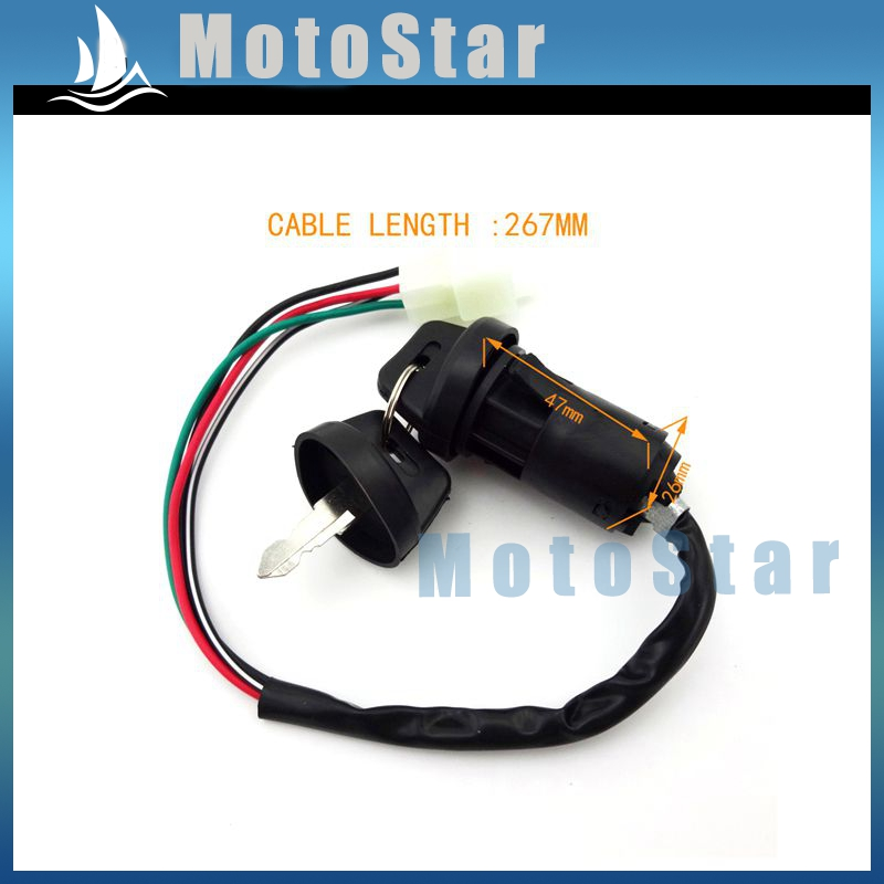 Atv ignition key switch 4 pin wire for chinese quad 4 wheeler go atv ignition key switch 4 pin wire for chinese quad 4 wheeler go kart taotao sunl roketa kazuma 50cc 70cc 90cc 110cc 125cc in motorcycle switches from asfbconference2016 Gallery