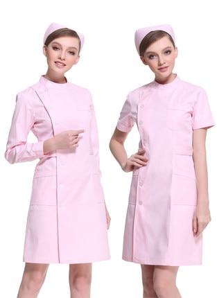 Sygehus medicinsk skrub tøj moderigtigt design slim fit tandskrubb kortærmet samlet læge unform hvid klud