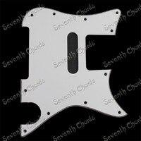 -Ply Electric Guitar Pickguard Scratch Tấm Scratchplate Pick Guard Anti-scratch Tấm Trắng Phong Cách Mới