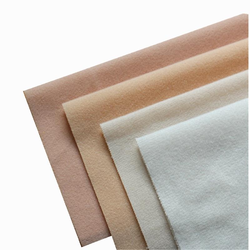 4 couleurs bricolage poupée peau tissu polaire velours Tissus en peluche tissu de fibres pour Costura couture trucs jouets tricot sieste Telas Tissus