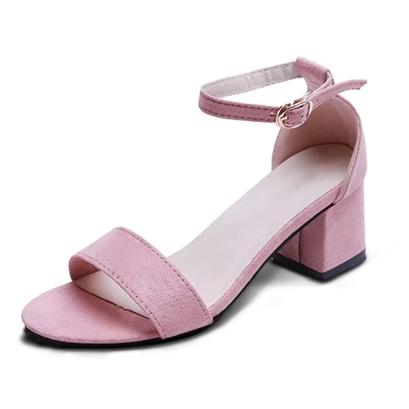 MCCKLE Summer Women Shoes Gladiator Buckle Strap Cover Heel Fashion Chunky Ladies Sandals For Woman Ankle Strap Footwear