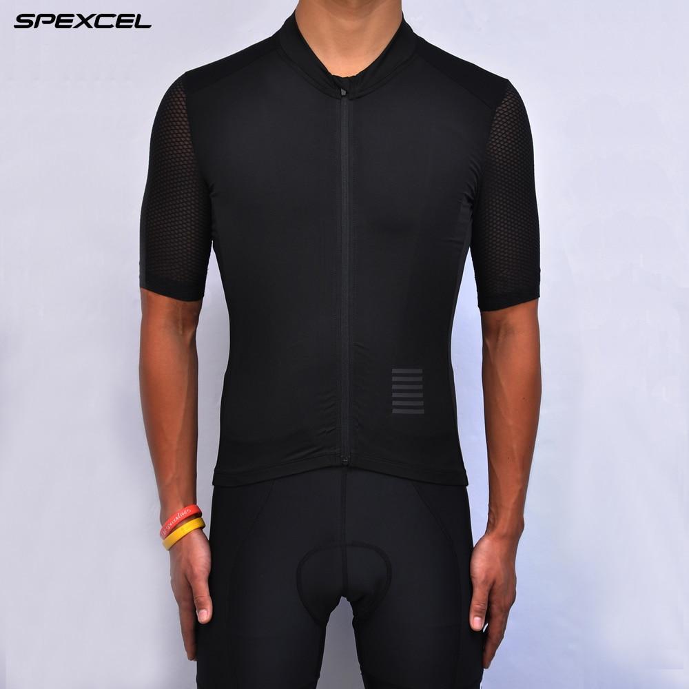 Спортивный костюм SPEXCEL, футболка для велоспорта черного цвета с коротким рукавом