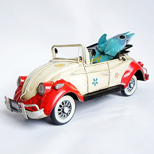 Romantic convertibles beetle model iron crafts decoration home decoration zone surfboard