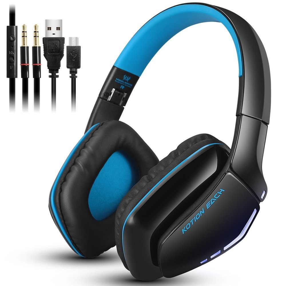 EACH B3506 Wireless Bluetooth Gaming Headphone Foldable Portable Hands Free Headset With Mic For PS4 PC Mac Smartphones Computer each g8200 gaming headphone 7 1 surround usb vibration game headset headband earphone with mic led light for fone pc gamer ps4