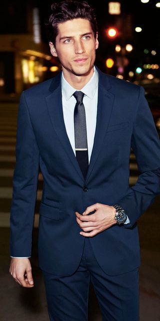 2018 Latest Coat Pant Designs Navy Blue Wedding Suits For Men Formal Custom Groom Best Man
