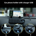 Mobile Holder Car Dashboard Adjustable Bracket Magnet Connector with Charging USB Cable for iphone 4 5s 6/Samsung S5 S6 GPS pad