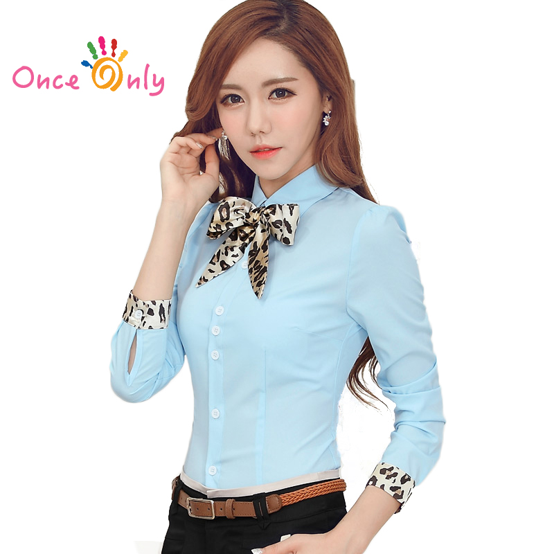 Ladies Office Shirts 2016 New Spring Women Blouse Long