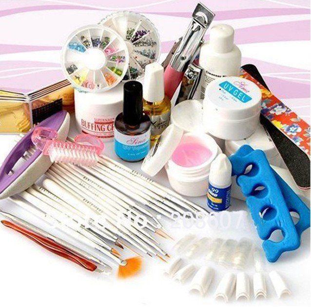 51b2a45239a Manicure Pedicure Set Professional Full Set UV Gel Brush PenCuticle Nipper  Cutter Sanding File Kit Nail Care Set Nail Clipper