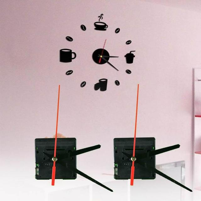 3 Colors Silent large wall Clock Quartz Movement Mechanism Black and Red Hands Repair Kit Tool Set With Hook High Quality