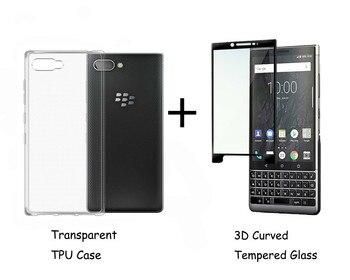 Перейти на Алиэкспресс и купить Для Blackberry KEY2 Le KEYTWO полное покрытие 0,3 мм 2.5D 9H закаленное стекло Защита для экрана цветная Защитная пленка для ЖК-экрана
