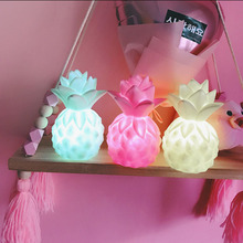 Lovely LED Pineapple Night Lights Soft Light Yellow Green Pink Baby Pillow  Bedroom Feeding Bedside Lamp Holiday Decor Lighting