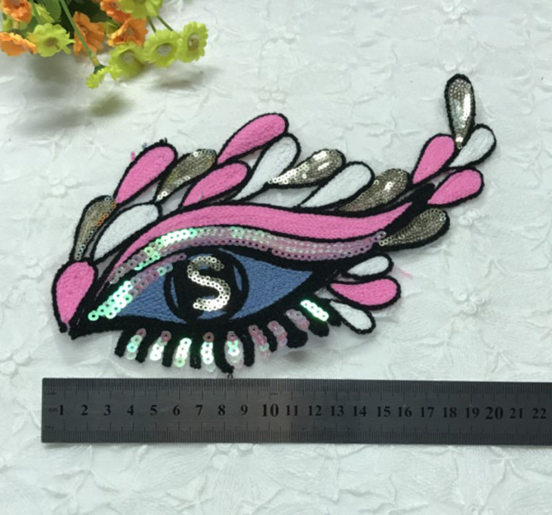 eye sequins patches for clothes 2