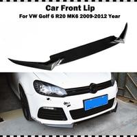 OSIR style Carbon Fiber Front Bumper Lip For VW Golf 6 VI MK6 R20 Bumper 2009~2012 CF styling front spoiler 3 pcs (only fit R20)