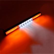 COB & LED Strobe Warning Light Bar Emergency Flashing Lamp for Car Truck Jeep 12V Amber White цена