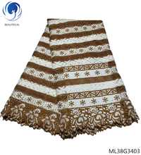 BEAUTIFICAL guipure laces cord lace fabrics with stones 2019 african water soluble dresses for women 5yards/lot ML38G34