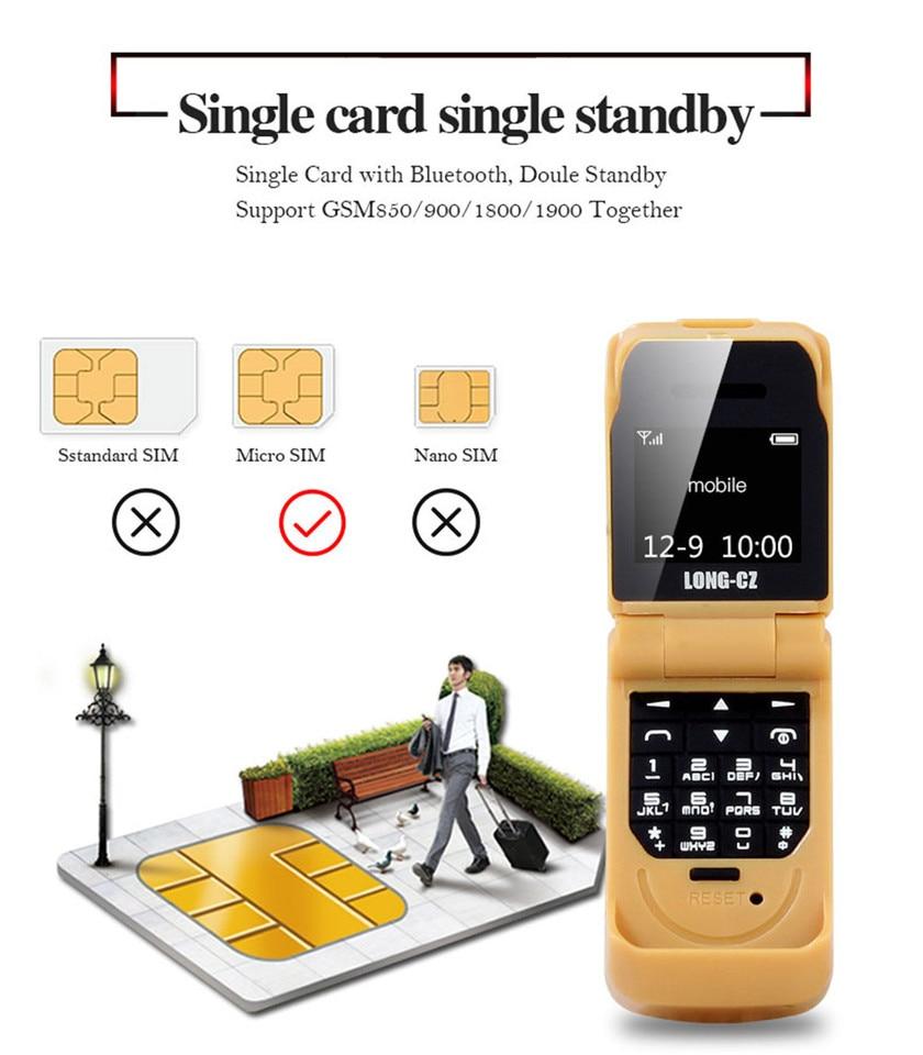 Mini Flip Mobile Phone Long Cz J9 0 66 Smallest Cell Phone Wireless Bluetooth Dialer Fm Magic Voice Handsfree Earphone For Kids Aliexpress