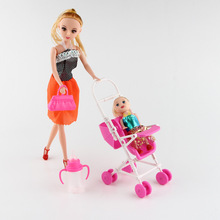 Hot Selling Simulated Doll Toy Suit Family-crossing  Plastic-absorbing board toys GirlsBirthday Gifts