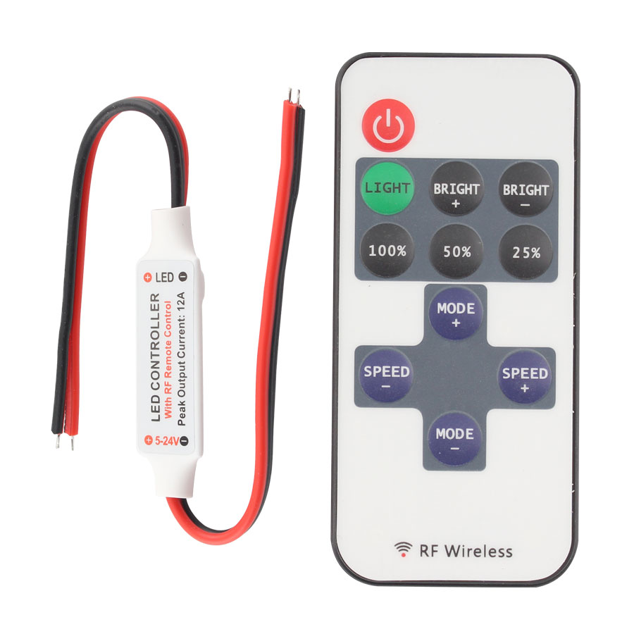 DC 5V-24V LED RF Wireless Mini Remote Controller Dimmer RF Wireless Remote Controllers For LED Light SMD 5050 2835 RGB Strip