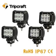 TRIPCRAFT 4 PÇS/LOTE 18 w LED LIGHT BAR ponto feixe flood worklight para barco rampa de carro offroad 4×4 4wd UAZ fog lamp 12 V 24 V à prova d' água