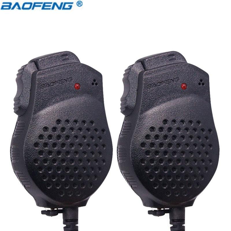2 pcs D'origine Baofeng UV-82 Double-PTT Président MIC Portable Push-To-Talk pour bf-uv82 Talkie Walkie microphone accessoires UV 82