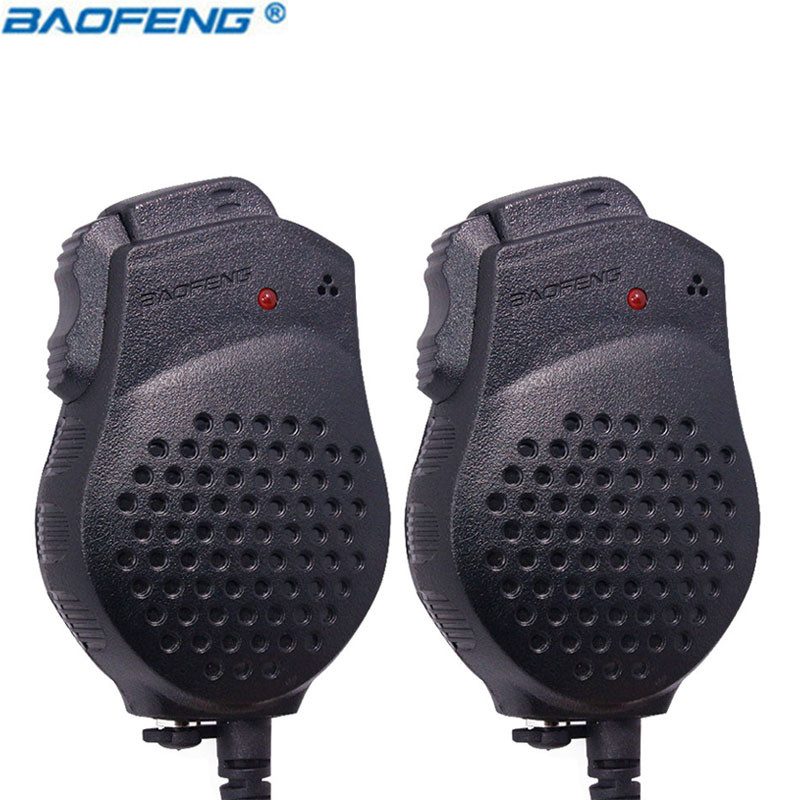 2PCS Original Baofeng UV-82 Dual-PTT Speaker MIC Portable Push-To-Talk for bf-uv82 Walkie Talkie Microphone accessories UV 82