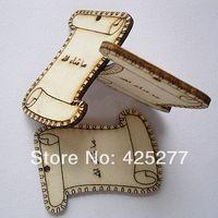 Retro Design 40x50mm ZAKKA Wood Thread Ribbon Twine SPOOL Bobbin Reel Organizer 50pcs Free Shipping 026007005