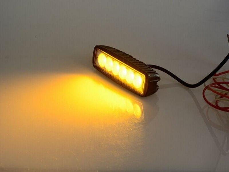2x6 drl 10 30v 18w amber spot led mini work light bar for atv getsubject aeproducttsubject aloadofball Images