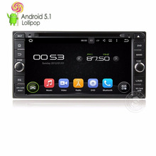 Android 5.1 Pirulito Quad core 2din Carro DVD Player De Vídeo unidade central autoradio GPS navi para Toyota Corolla universal EX Camry RAV4