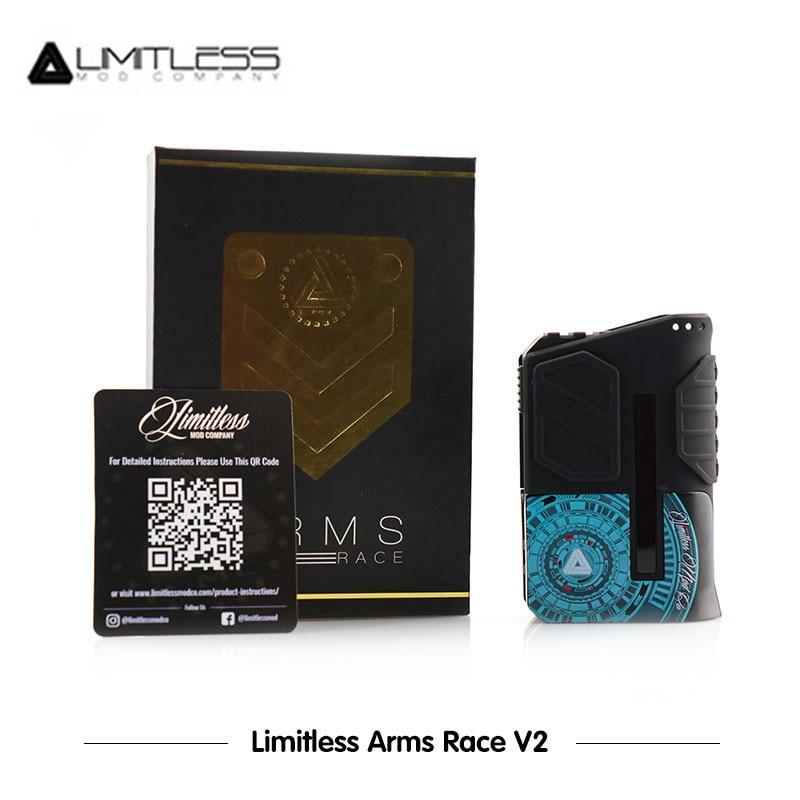 Update E Cigarettes Limitless Arms Race V2 Box Mod LMC Powered by Dual 18650 Battery VS LMC Arms Race LMC200W Vaporizer Vape