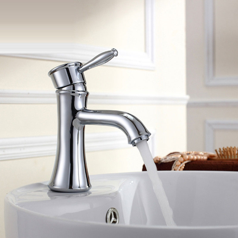 Wholesale And Retail Deck Mount Waterfall Bathroom Faucet Vanity Vessel Sinks Mixer Tap Hot and Cold Water Tap Free Shipping
