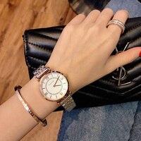 New Fashion Rose Gold Stainless Steel Watches Women ladies casual dress quartz wrist watch luxury 2019 reloj mujer Toluck Brand