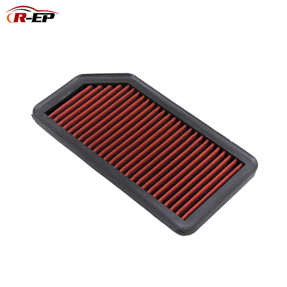 R-EP Replacement Washable Air Filter Fits for Hyundai I20 IX20 Kia Soul Venga Reusable High Flow OEM 28113-2K00