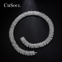 CHSOUL Brand Luxury Statement Necklaces For Women Supernatural Full AAA CZ Wedding Fine Jewelry Crystal Pendant