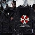 2015 Inverno Hoodies Resident Evil Umbrella Homens Negros Casuais Zíper Com Capuz Da Camisola Roupas de Marca Premium Frete Grátis
