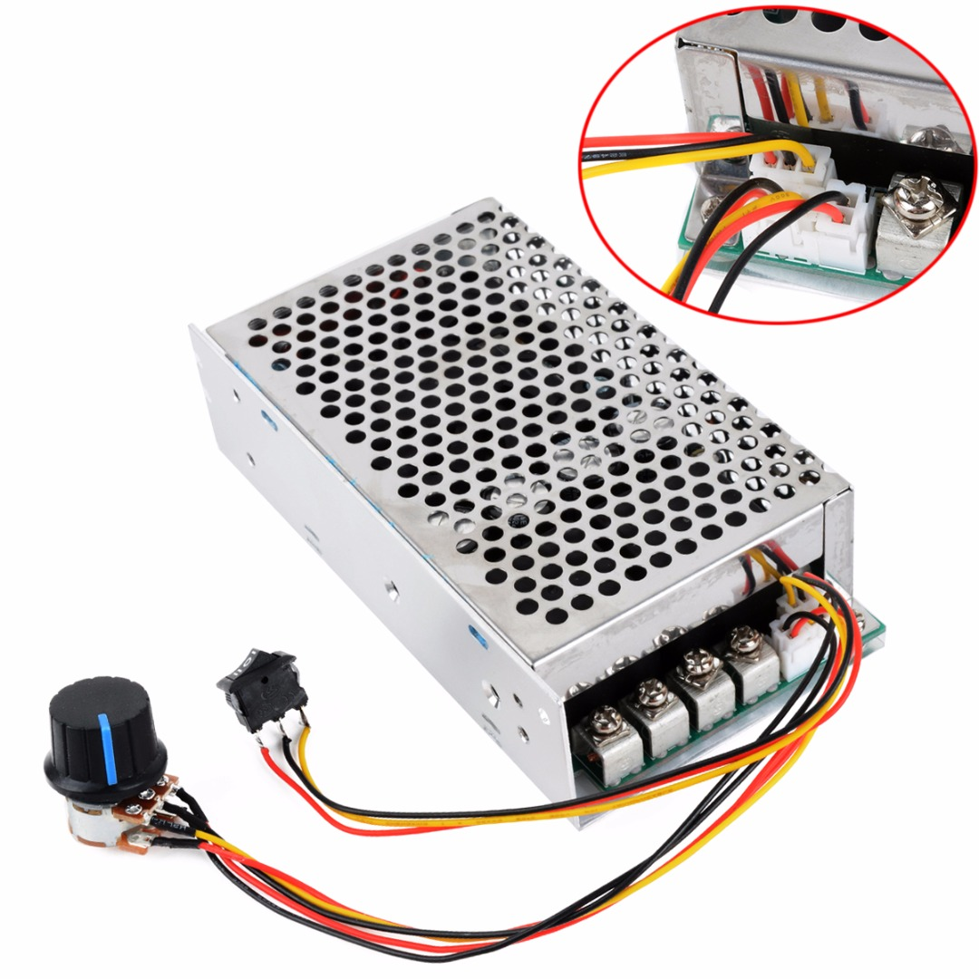 DC 10-50V Motor Speed Controller Programable Reversible 15khz PWM Control 100A 3000W digital dc motor pwm speed control switch governor 12 24v 5a high efficiency